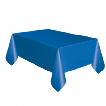 Royal Blue Table Cloth - Plastic 9ft Tablecover 1pc